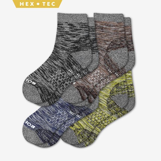 mixed Men's Hiking Quarter Sock 4-Pack