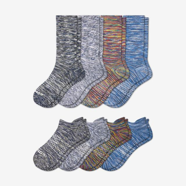 mixed Men's Space Dye Calf & Ankle Sock 8-Pack
