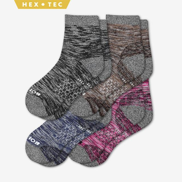 mixed Women's Hiking Quarter Sock 4-Pack