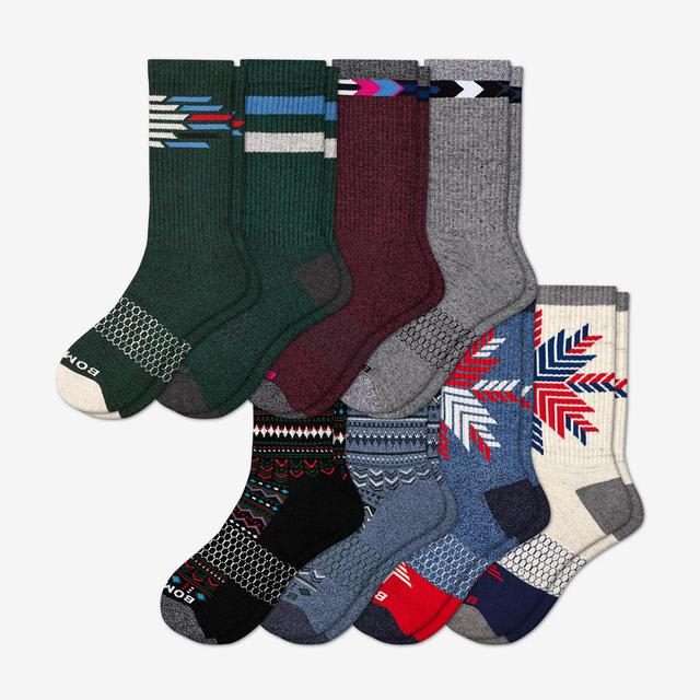 mixed Men's Holiday Calf Sock 8-Pack
