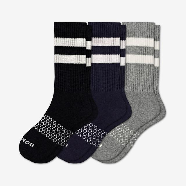 mixed Men's Vintage Stripe Calf Sock 3-Pack