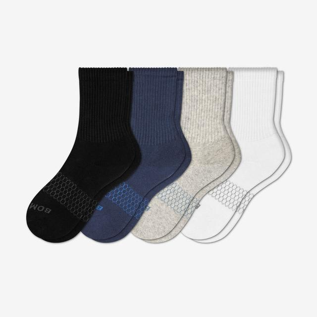 mixed Youth Solid Calf Sock 4-Pack
