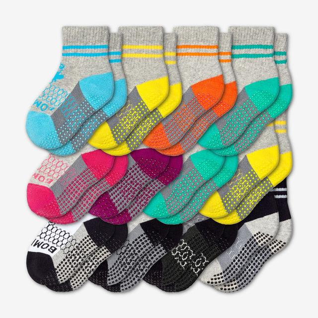 mixed Toddler Gripper Sock 12-Pack