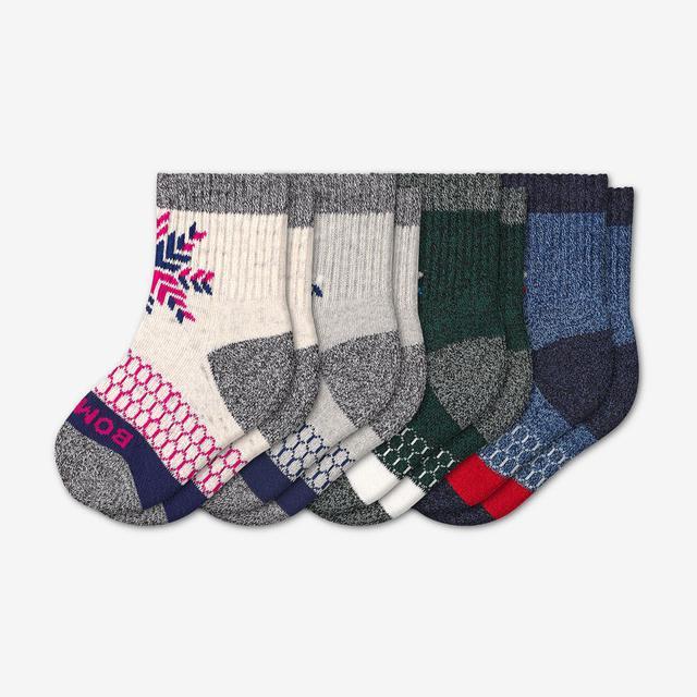 mixed Toddler Snowflake Sock 4-Pack