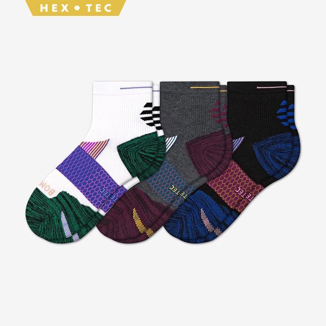 mixed Women's Performance Running Quarter Sock 3-Pack