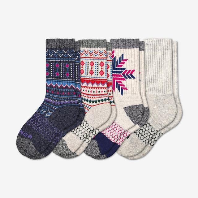 mixed-holiday Youth Holiday Sock 4-Pack