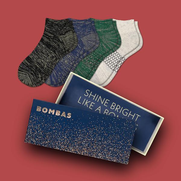 Women's Sparkle Quarter Sock Gift Box