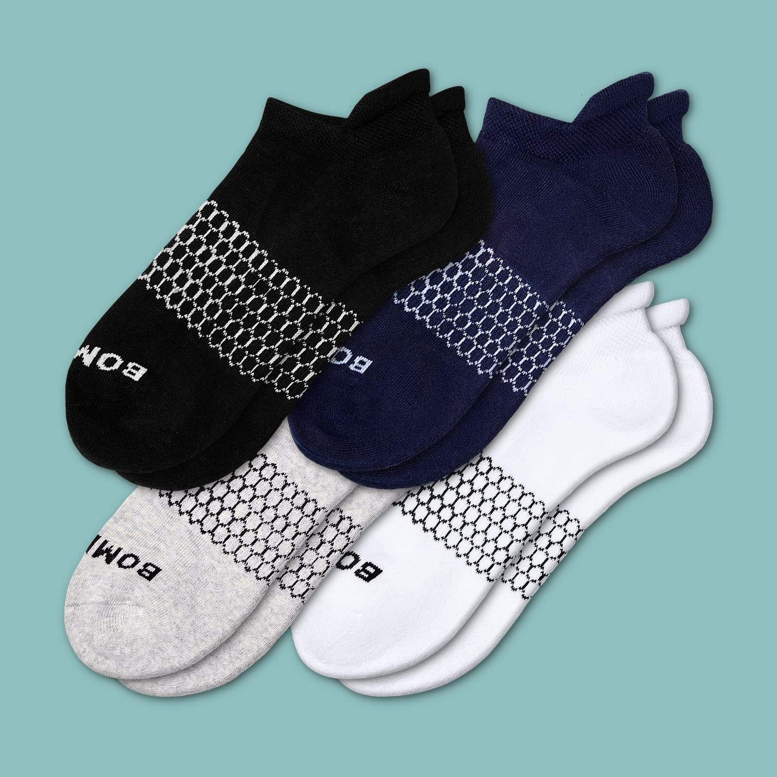 Women's Solids Ankle Sock 4 Pack by Bombas