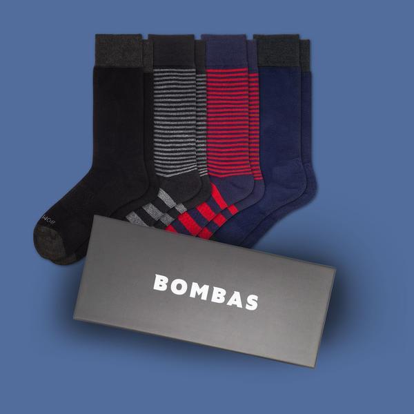 Men's Dress Over the Calf Socks Gift Box
