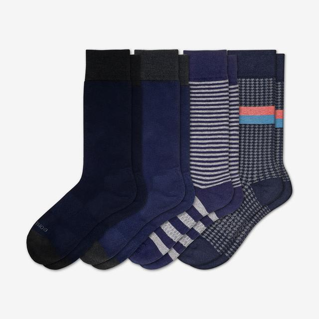 mixed-navy Men's Mixed Dress Sock 4-Pack