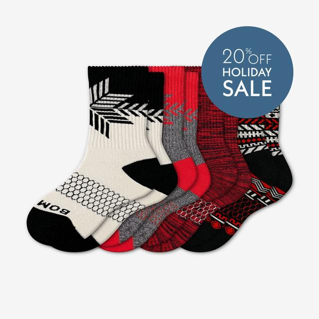 mixed-red Youth Limited Edition Holiday Sock 4-Pack
