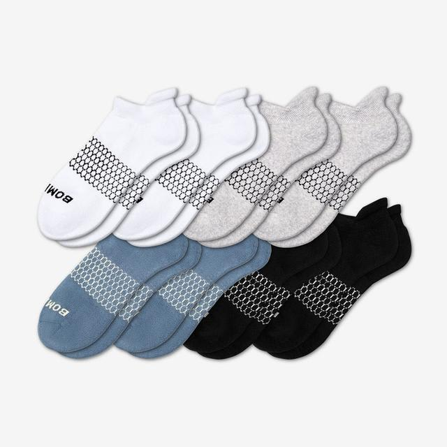 mixed-slate-blue Men's Solids Ankle 8-Pack
