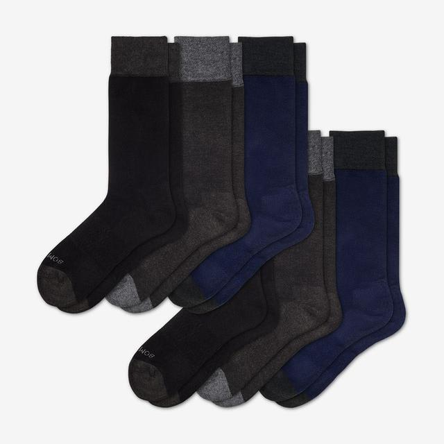 mixed-solid Men's Dress Sock 6-Pack