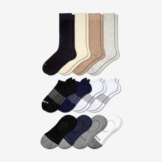 mixed-solids Women's Essentials Sock 12-Pack