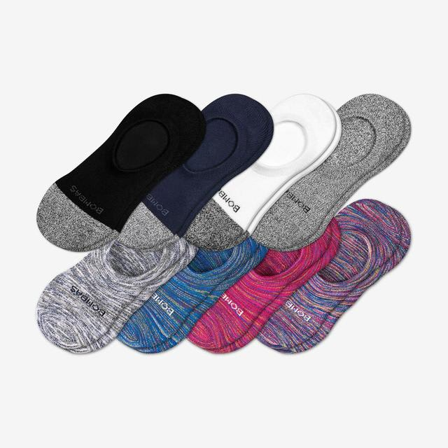 mixed-space-dye Women's Cushioned No Shows 8-Pack