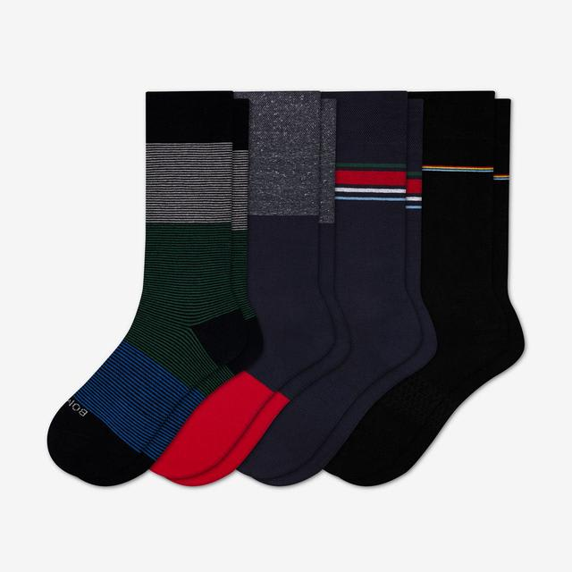 mixed-stripe-colorblock Men's Mixed Dress Sock 4-Pack