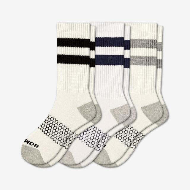 mixed-white Men's Vintage Stripe Calf Sock 3-Pack