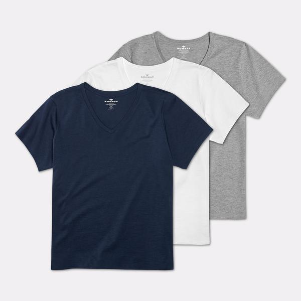 08429e6865b16 Women s Pima Cotton V-Neck T-Shirt 3-Pack – Bombas