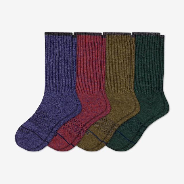 multi-4 Women's Merino Wool Calf Sock 4-Pack