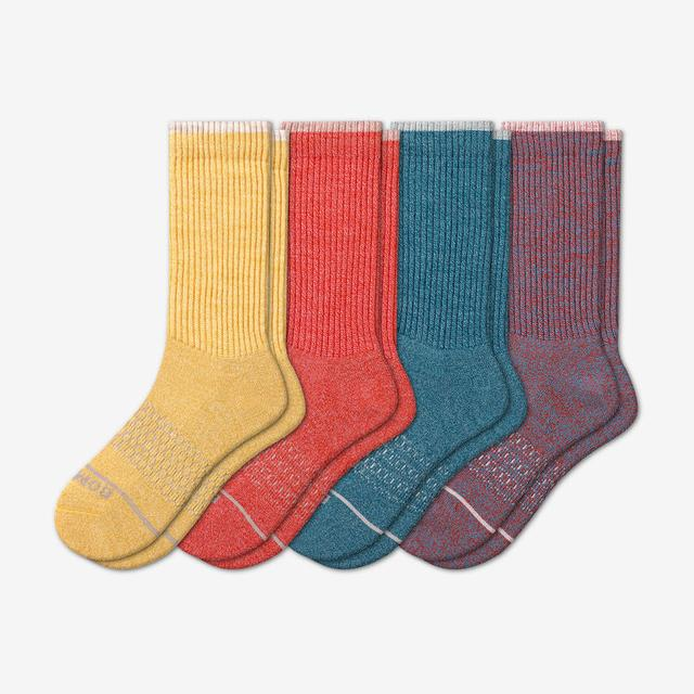 multi-4 Women's Merino Wool Calf Sock 4-Pack