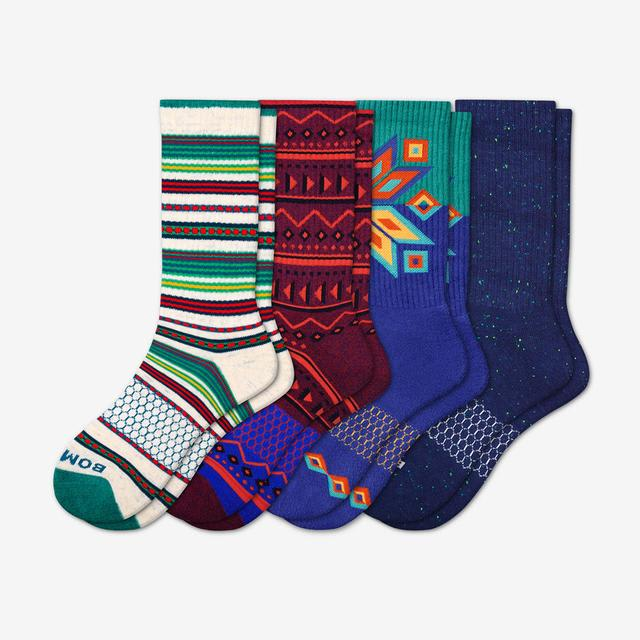 multi Men's Holiday Calf Sock 4-Pack