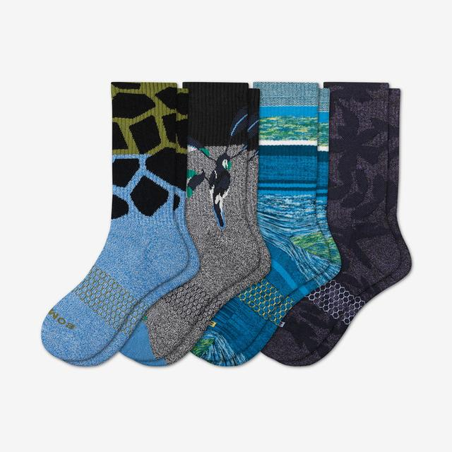 multi Men's Wild Wear Calf Sock 4-Pack