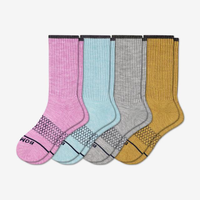 multi Women's Merino Wool Calf Sock 4-Pack