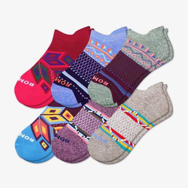 multi Women's Holiday Ankle Sock 6-Pack