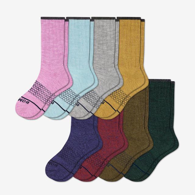 multi Women's Merino Wool Calf Sock 8-Pack