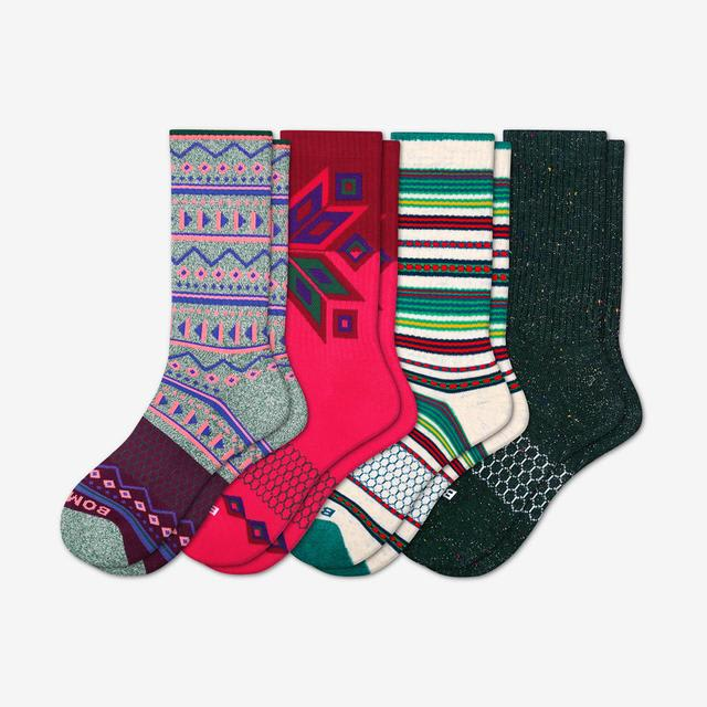 multi Women's Holiday Calf Sock 4-Pack