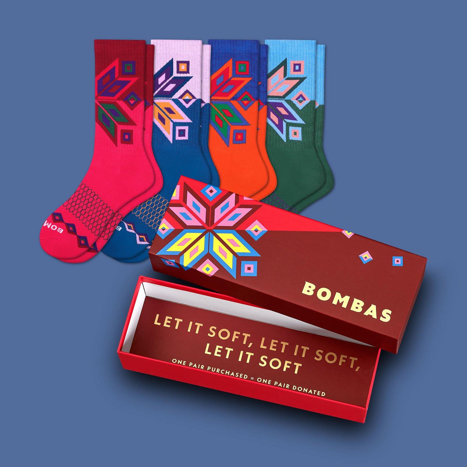Women's Snowflake Calf Sock Gift Box by Bombas