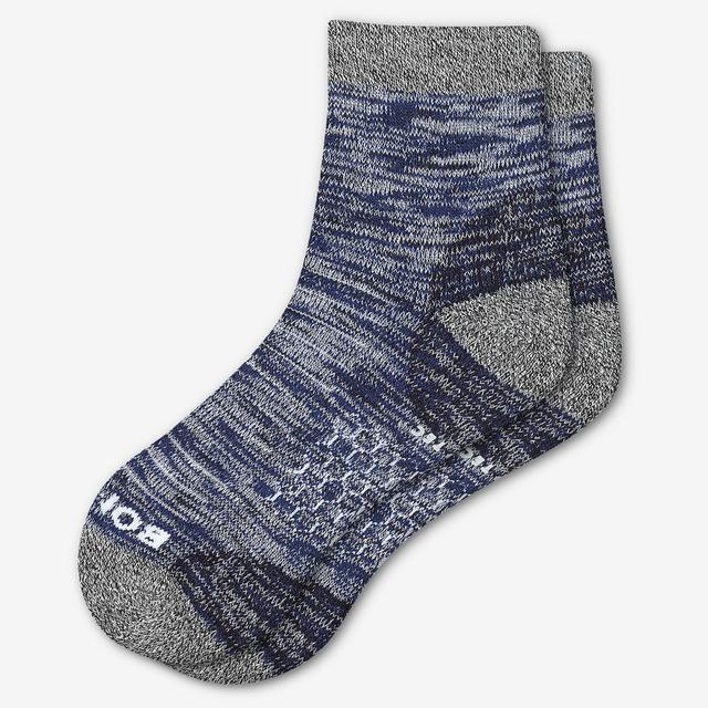 navy Men's Hiking Quarter Socks