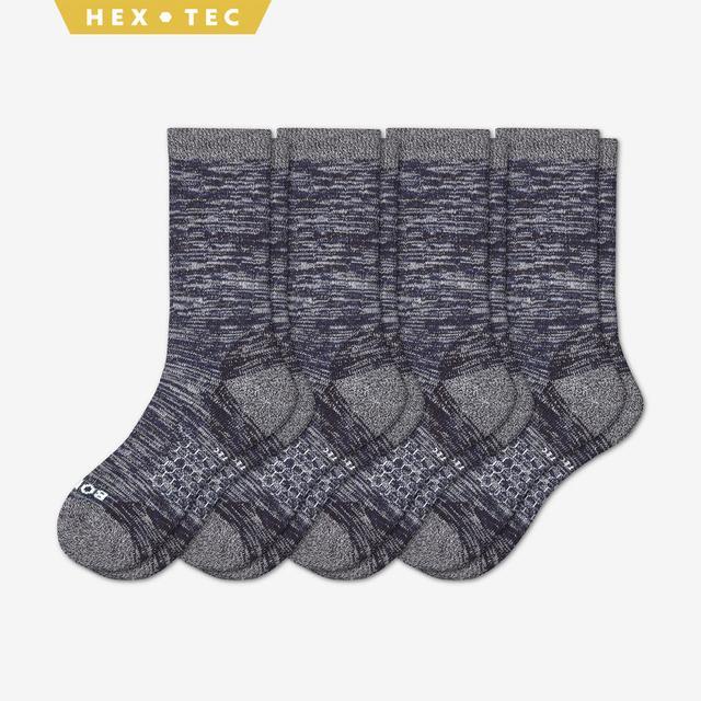 navy Men's Hiking Sock Calf 4-Pack