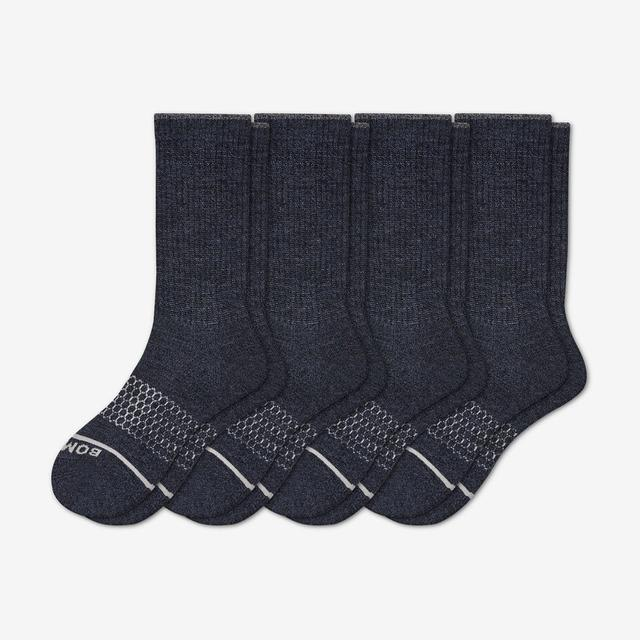 navy Men's Merino Wool Calf Sock 4-Pack