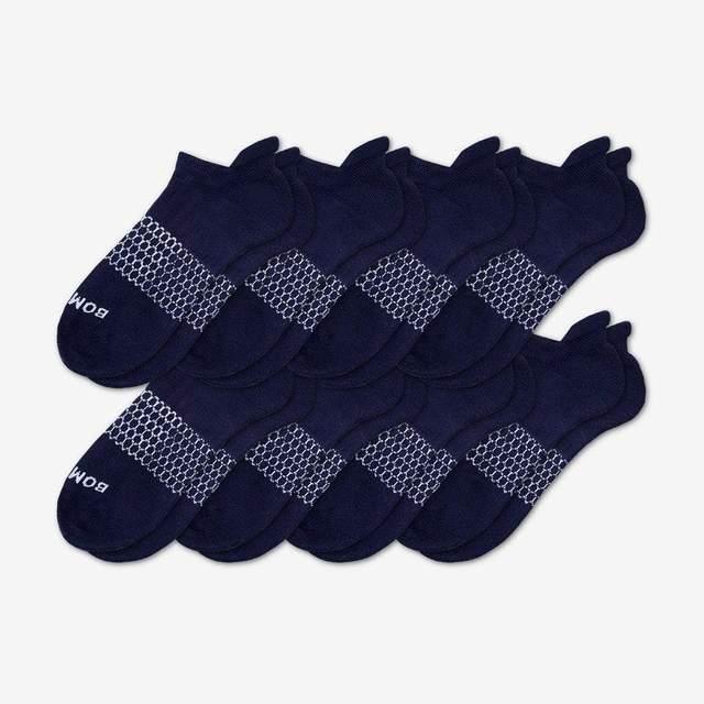 navy Men's Solids Ankle 8-Pack