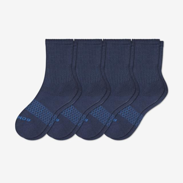 navy Youth Solid Calf Sock 4-Pack