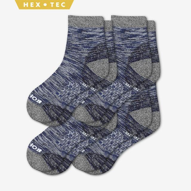 navy Men's Hiking Quarter Sock 4-Pack