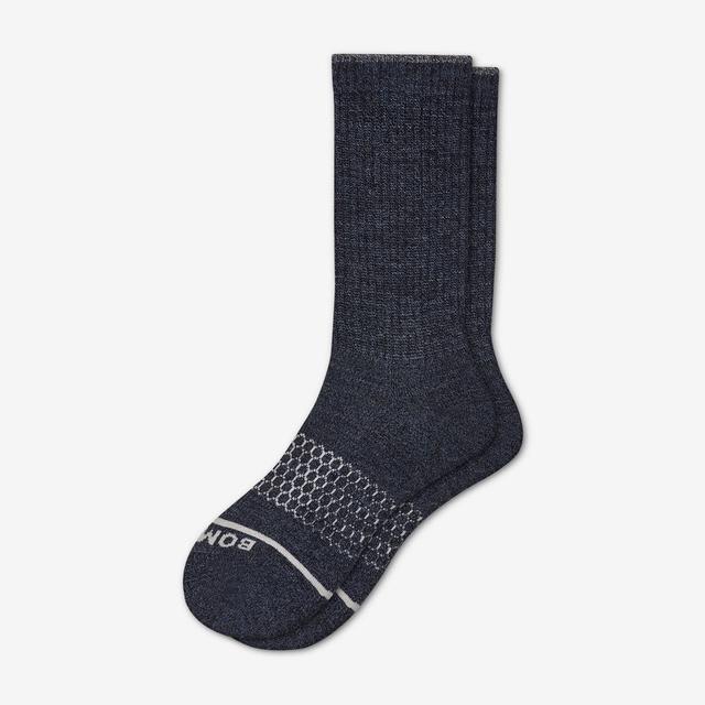navy Women's Merino Wool Calf Socks