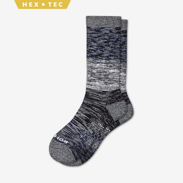 navy-white-black Men's Hiking Colorblock Calf Socks