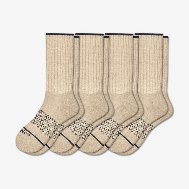oatmeal Men's Merino Wool Calf Sock 4-Pack