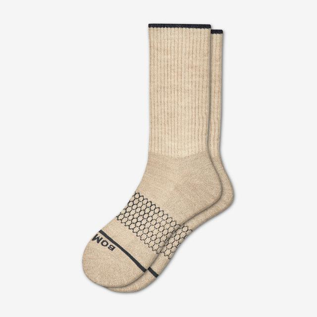 oatmeal Men's Merino Wool Calf Socks