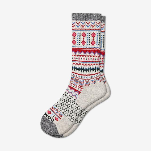 oatmeal Women's Fair Isle Calf Socks