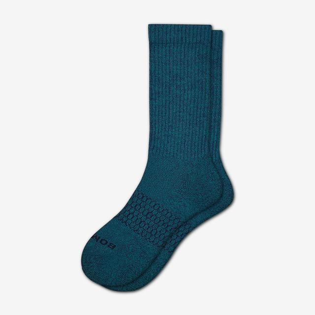 peacock-navy Men's Classic Marls Calf Sock