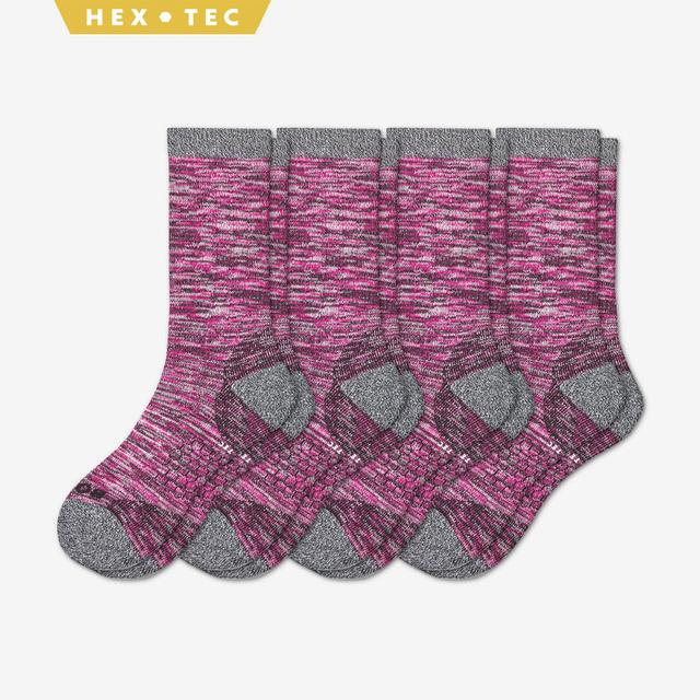 pink Women's Hiking Calf Sock 4-Pack