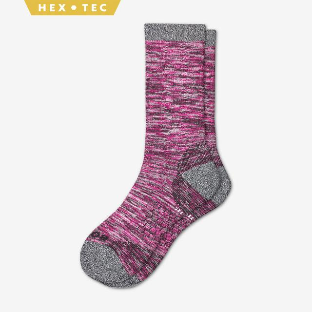 pink Women's Hiking Calf Socks