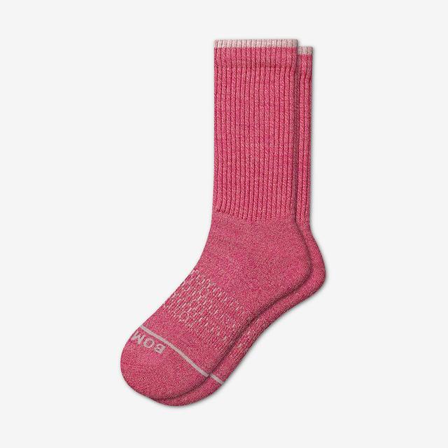 pink Women's Merino Wool Calf Socks