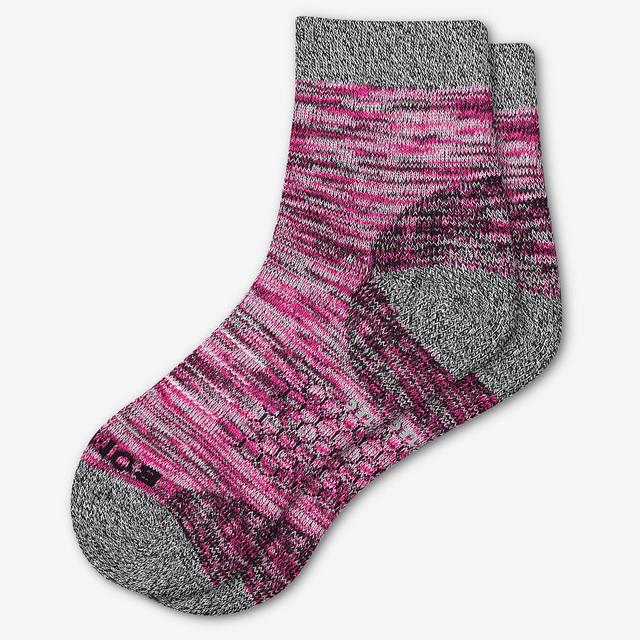 pink Women's Hiking Quarter Socks