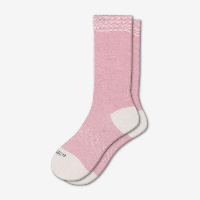 pink-microstripe Women's Lightweight Calf Socks