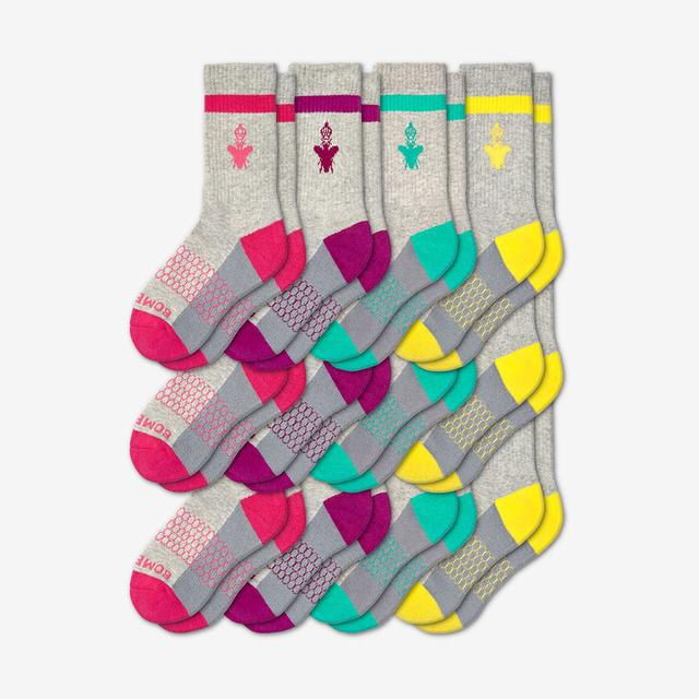 pink-purple-teal-yellow Youth Calf 12-Pack