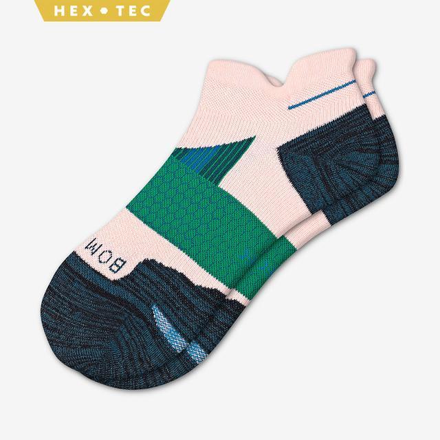pink-slate-green Women's Performance Running Ankle Sock